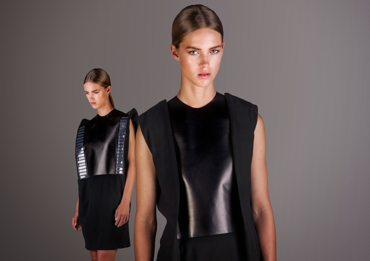 Wearable Solar powered clothing Pauline Van Dongen Wearable Tech weird wired wondrous Fashion technology inventions smart clothing