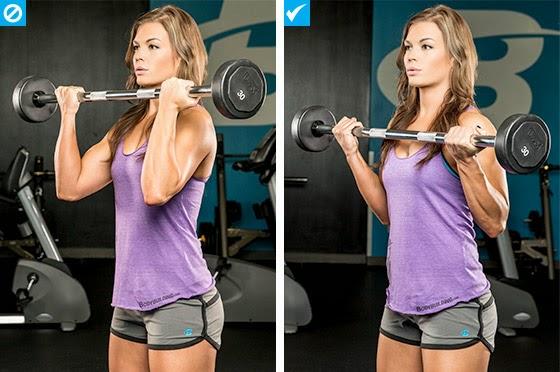 مرجحة البار لتدريب عضلات الباى