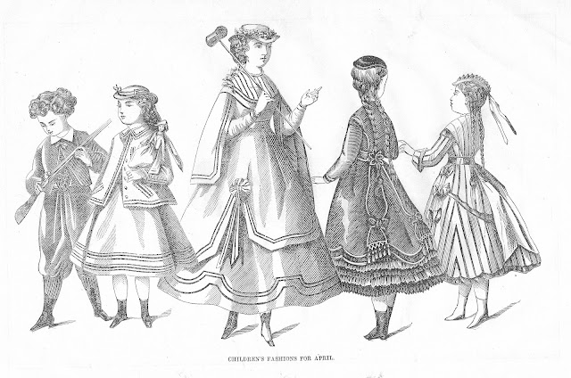 Antique French Fashion Illustrations Royalty Free Antique Graphics via Knick of Time