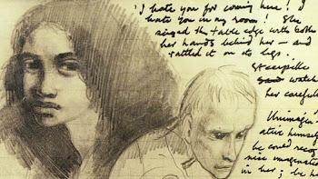 MANUSCRITO de Titus Groan, la primera obra de la trilogía fantástica de Mervyn Peake.