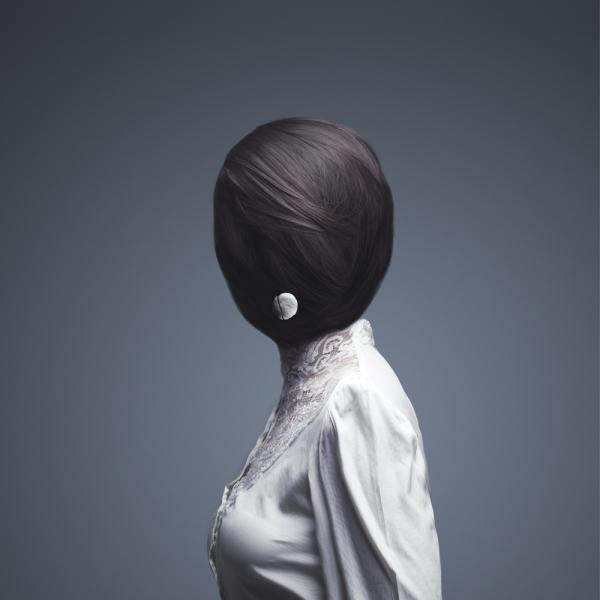 Foto surrealista mujer
