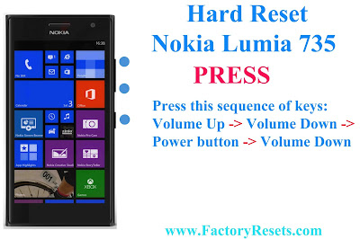 Nokia Lumia 735 (RM-1039) hard reset