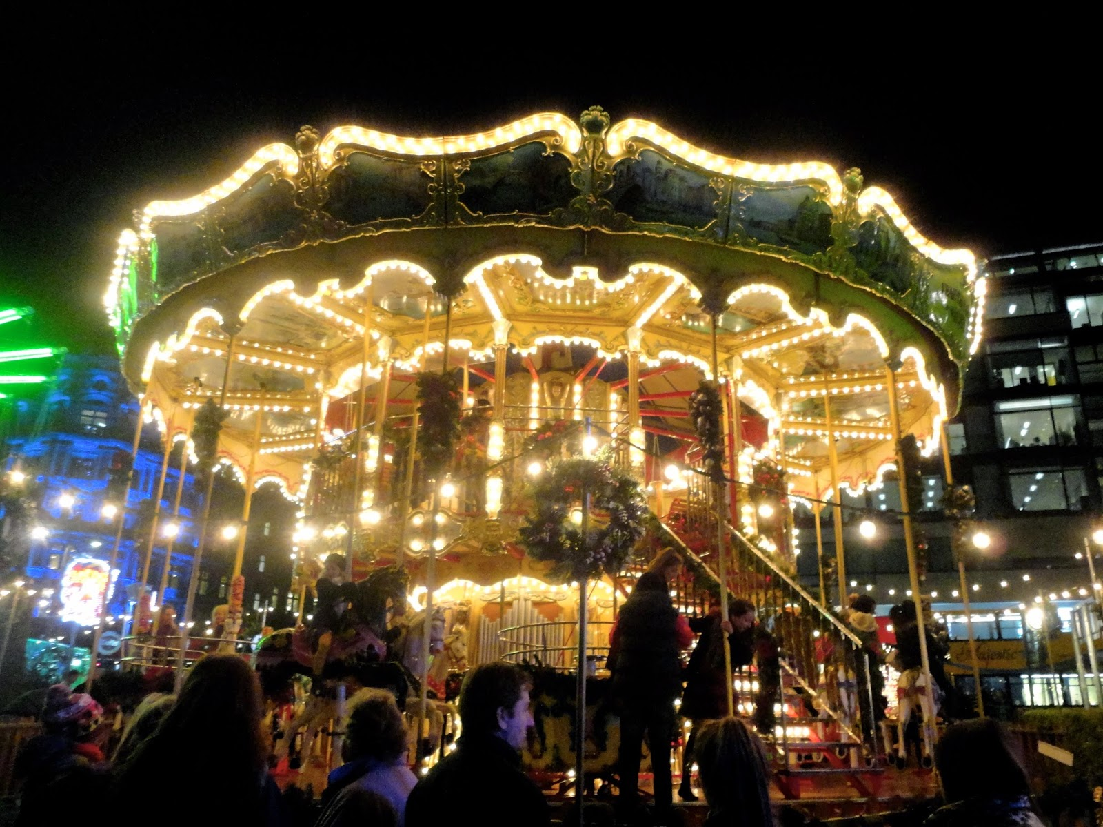 Carousel in Edinburgh's Winter Wonderland at Christmas in Princes Street Gardens