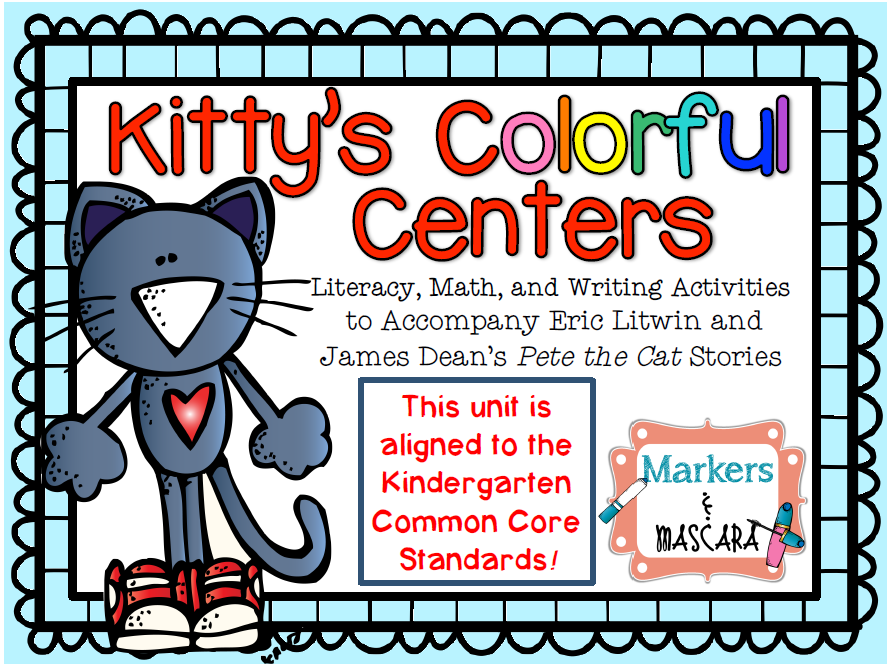 http://www.teacherspayteachers.com/Product/Kittys-Colorful-Centers-Pete-the-Cat-1328401