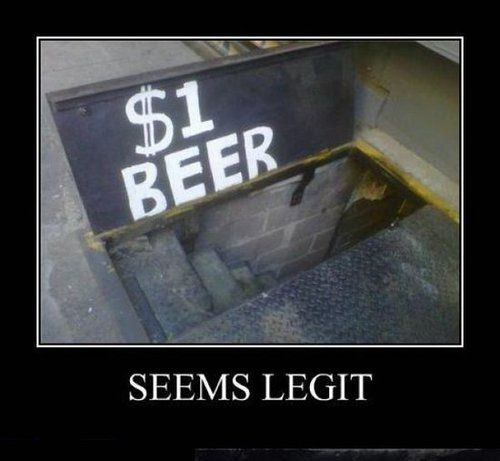 1$ Beer Seems Legit