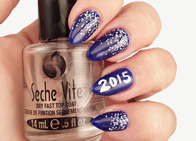 Blue and silver glitter gradient by @unitedinbeauty