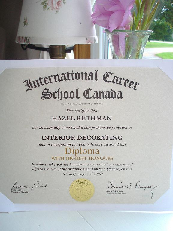 Blossom hill interior decorating diploma for Interior design decoration diploma