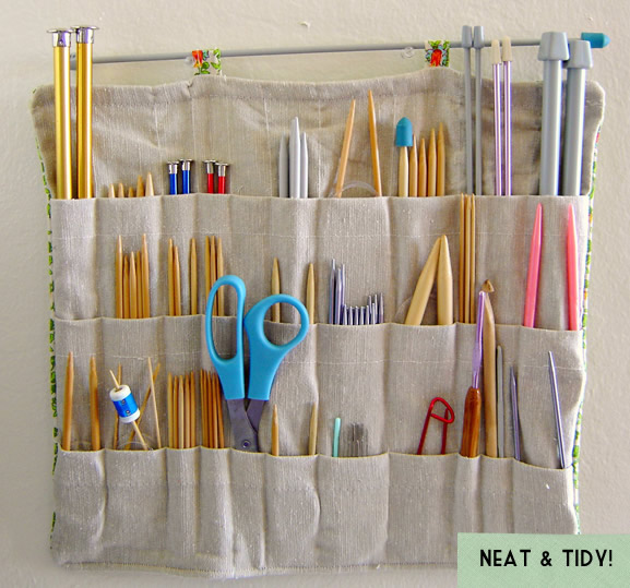Knitting Needle Organizer : The dapper toad knitting needle organizer hurray