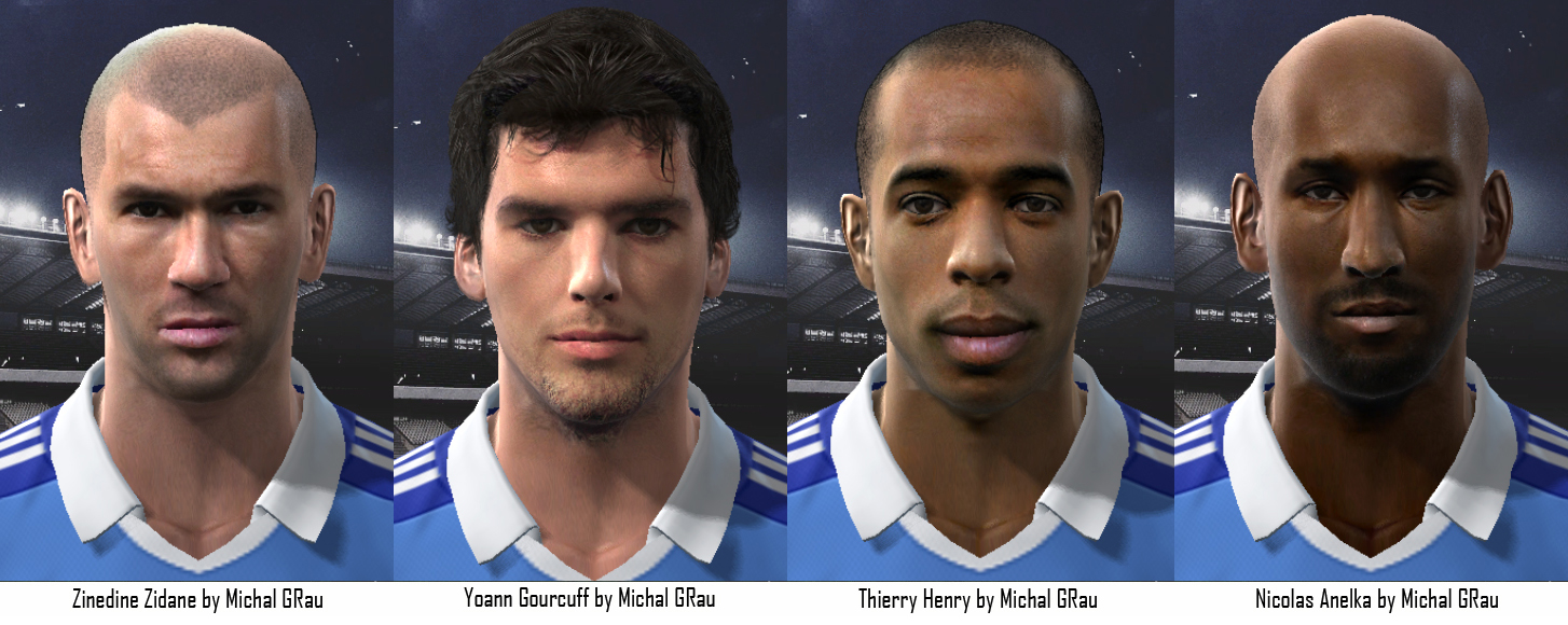 FRANCE FACES PACK V3 para PES 2011 by MichalGRau