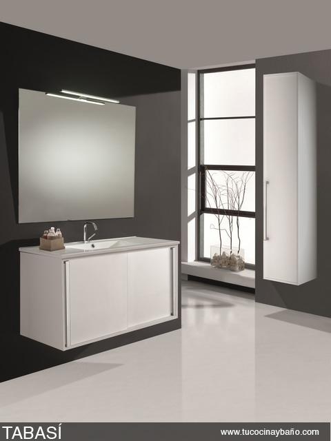 mueble baño puerta corredera