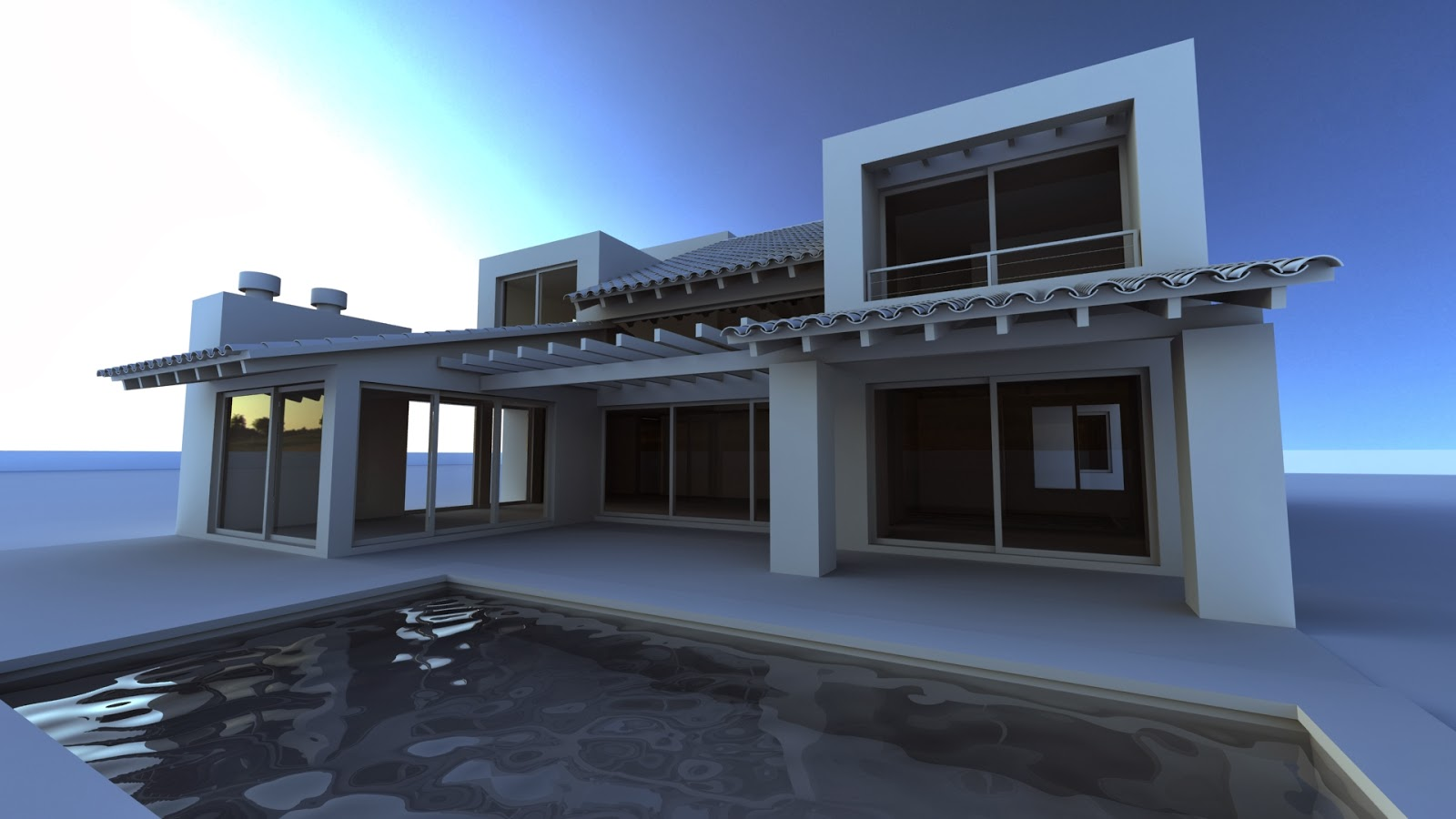 Infograf a y dise o 3d casa ckn - Diseno de casa en 3d ...