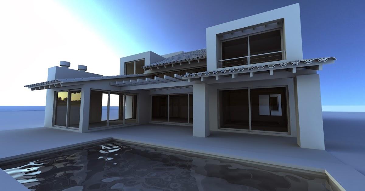 Infograf a y dise o 3d casa ckn for Diseno de casas 3d online
