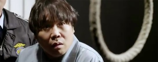 Jung Eun Pyo 정은표 as Ki Dong Ho stares at the noose waiting for him.