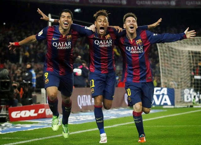 Trio MSN Barcelona 6-1 AS Roma