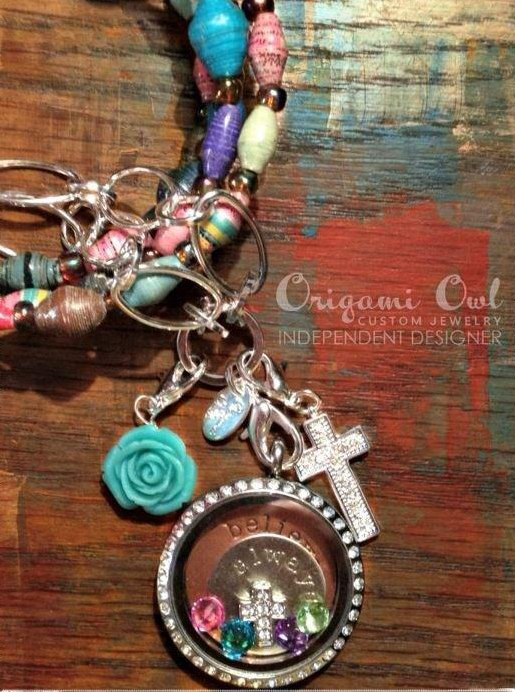 Faith + Always Believe Origami Owl Living Locket - come create your own at StoriedCharms.blogspot.com