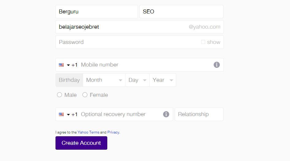 Cara Membuat Email Yahoo 3