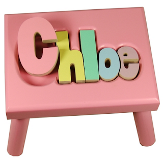 personalized puzzle step stool for children