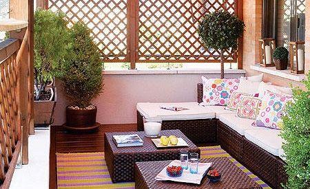 Terrazas de primavera verano good morning style - Muebles para terraza pequena ...
