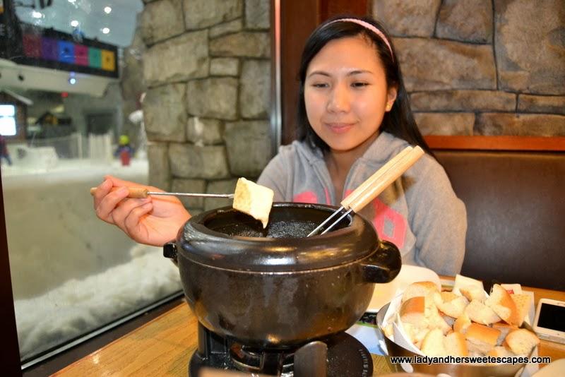 Fondue fun at St. Moritz Cafe