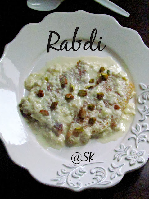 rabdi - how to make rabdi at home - step by step