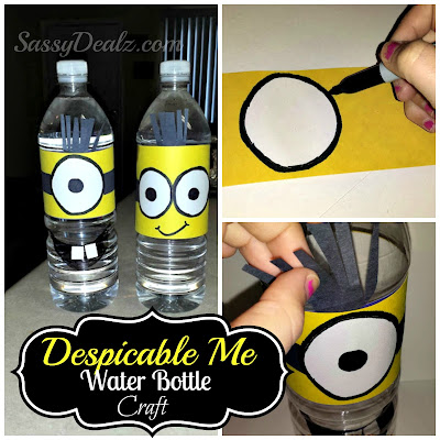despicable me minion water bottle kids craft