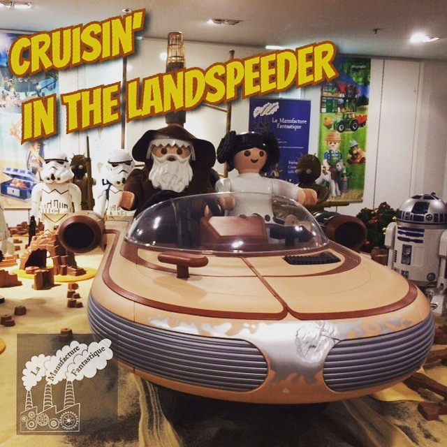 large scale playmobil Star Wars display scene