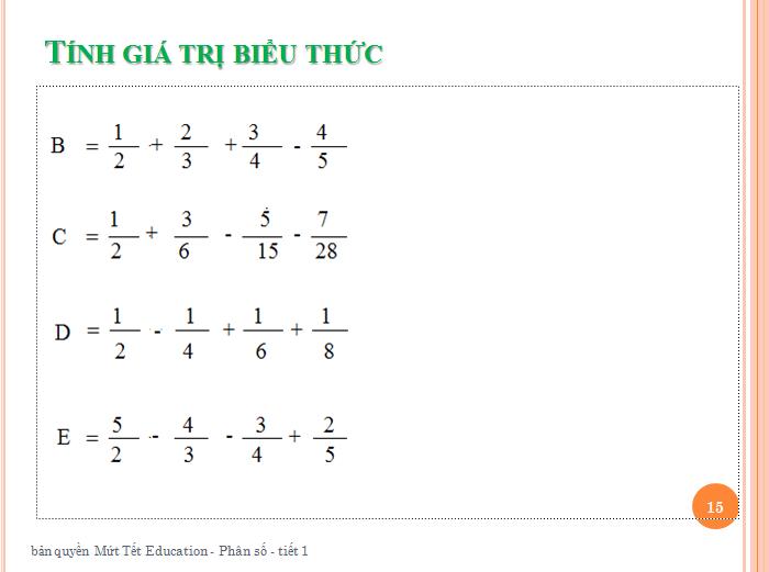 Bài tập phân số toán lớp 5 - rút gọn phân số(15)