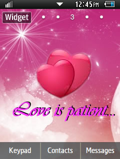 General Valentines Day Samsung Corby 2 Theme Wallpaper