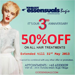 50% Off all Hair Treatments