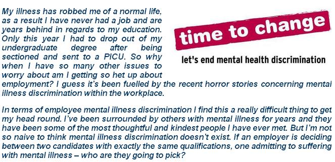 mental illnesses and discrimination essay Stigma on mental illness stigma on prejudice and later results in discrimination (corrigon, 2004) mental illness is one the mental illnesses are medical.