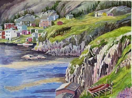Watercolour by Alan Bain