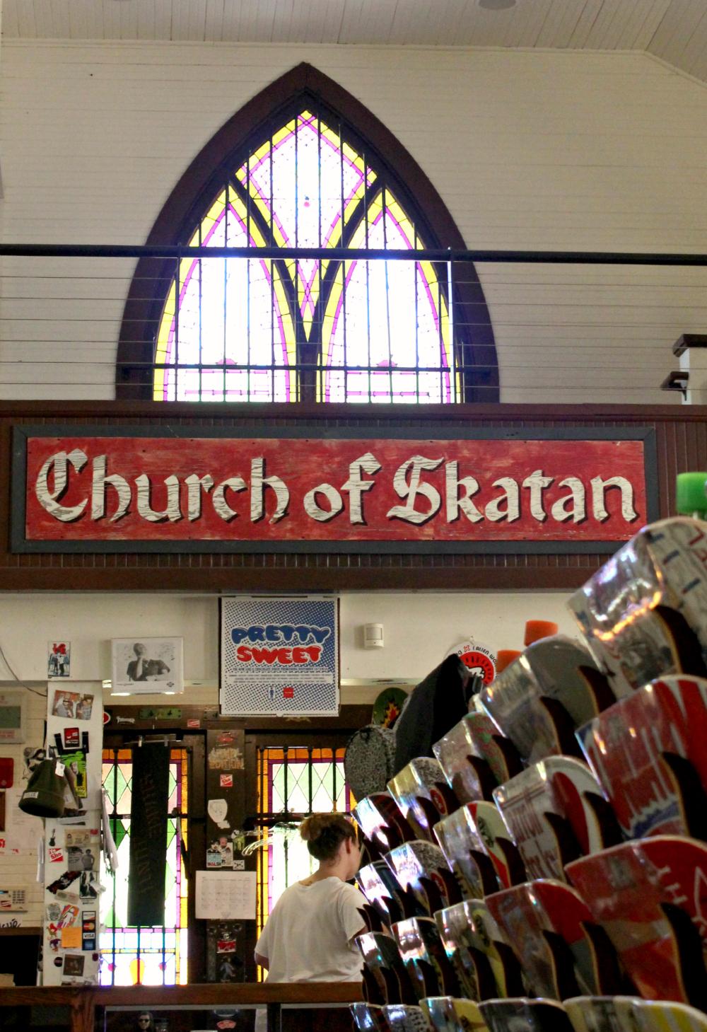 church of skatan / skateboard shop / santa barbara california