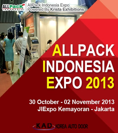KAD will exhibit high speed door in ALL PACK Indonesia 2013