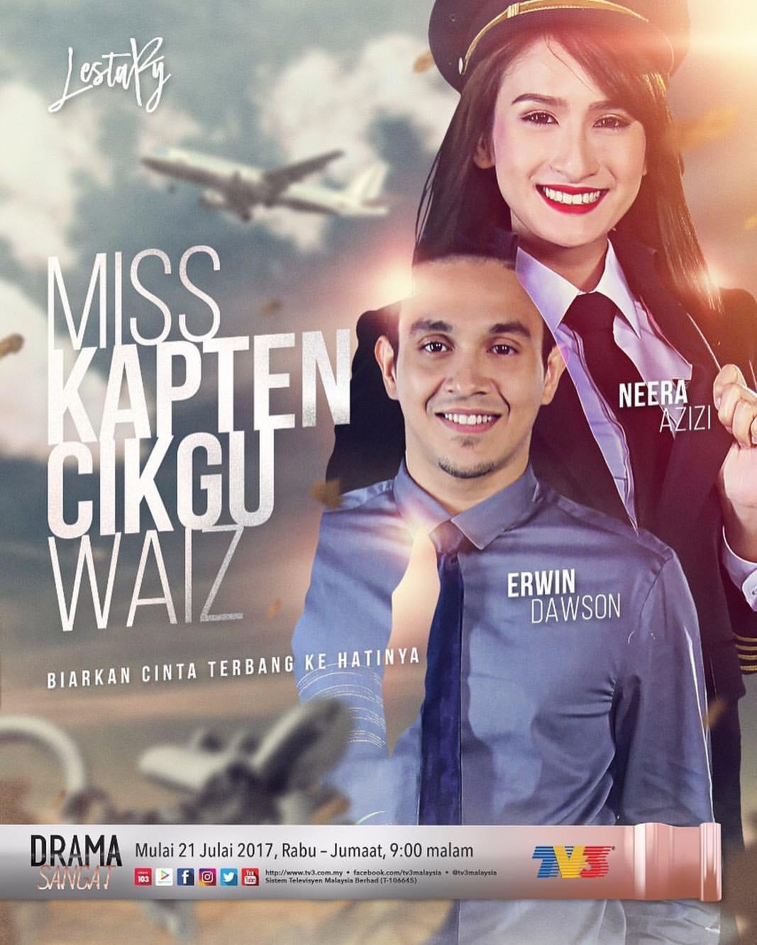 Hot! Drama Miss Kapten Cikgu Waiz