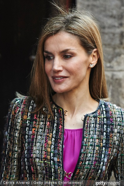 King Felipe VI of Spain and Queen Letizia of Spain visit the Aljaferia Palace