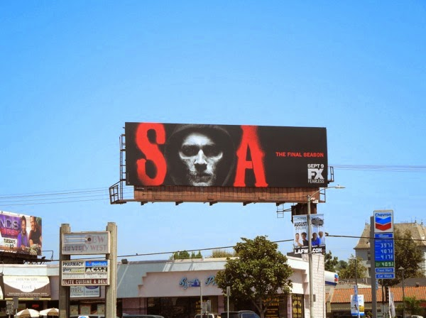Sons of Anarchy final season billboard