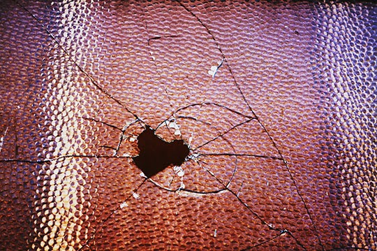 smashed glass, urban photography, photo, contemporary, Sam Freek,