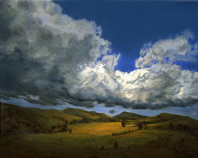 Billowing Clouds Go By and By Katherine Kean contemporary original oil