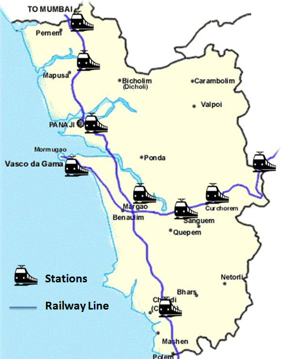 Railway Map of Goa