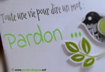 Photographie & Poésie Pardon