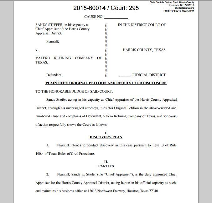 Houston Courts Cases 2015