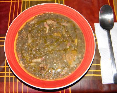minestra golosa di cereali e lenticchie