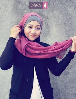 Cara+memakai+Hijab+Kerudung+Segiempat4 Cara Memakai Hijab Kerudung Segiempat