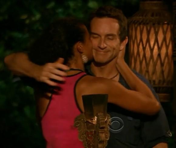 Sarah Dawson Kissing Jeff Probst