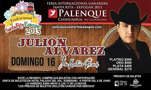 Julión álvarez en palenque expogan 2013
