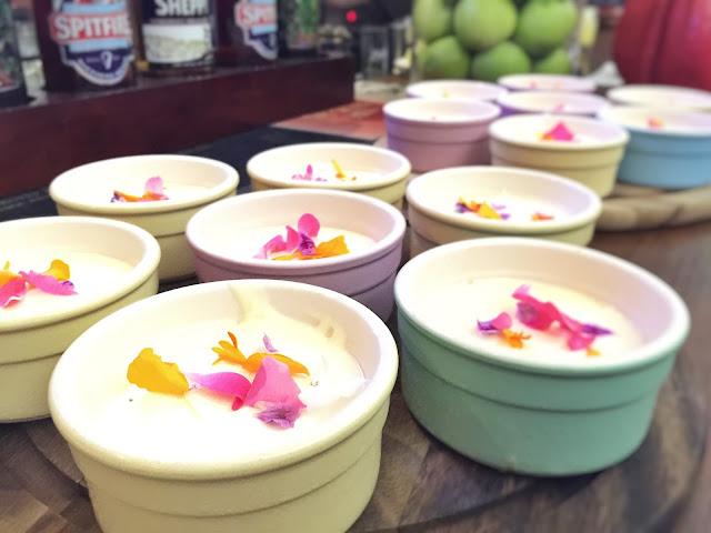 Rabbit Carrot Gun - Elderflower & Lime Cheesecake Pots with Wild Flowers