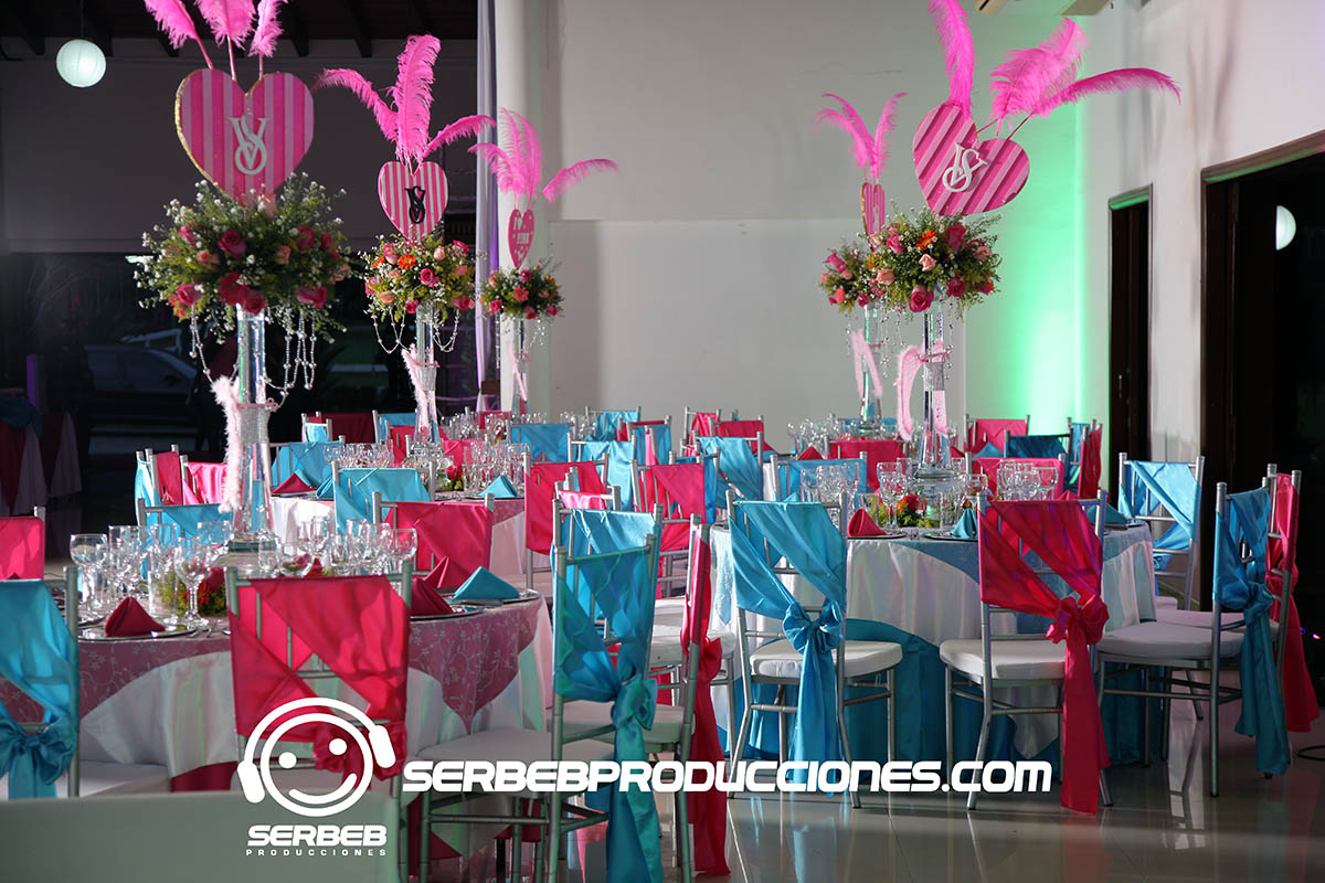 15 a os fiesta de 15 a os tem tica love pink hacienda for Como vestir sillas para 15 anos