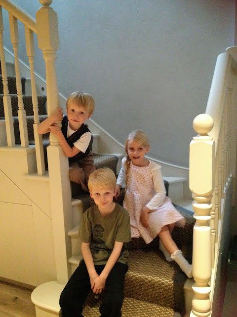 children filming advert