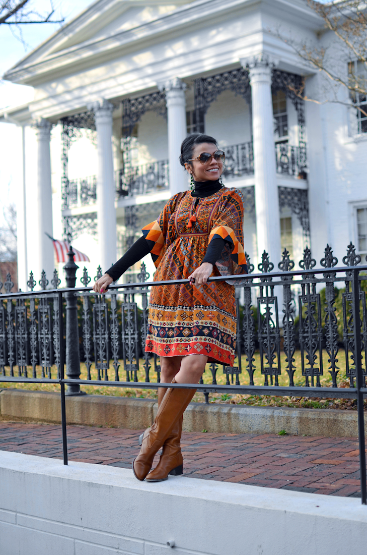 Old Salem North Carolina - Printed Dress