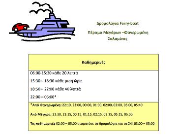ΔΡΟΜΟΛΟΓΙΑ FERRY ΦΑΝΕΡΩΜΕΝΗΣ ΣΑΛΑΜΙΝΑΣ